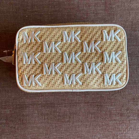 NWT Michael Kors Straw Python Capsule Sm Xbody